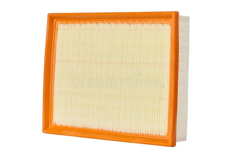 Square Air filter isolated on white background, auto spare part royalty free stock image