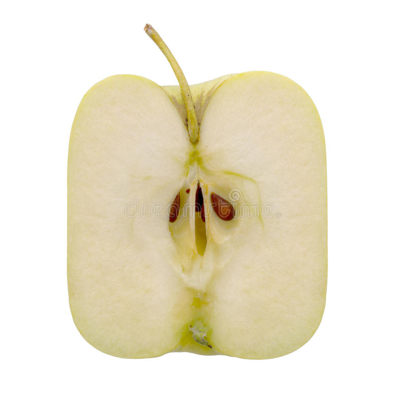 Square apple. Modern agriculture, maybe genetically modified. royalty free stock photo