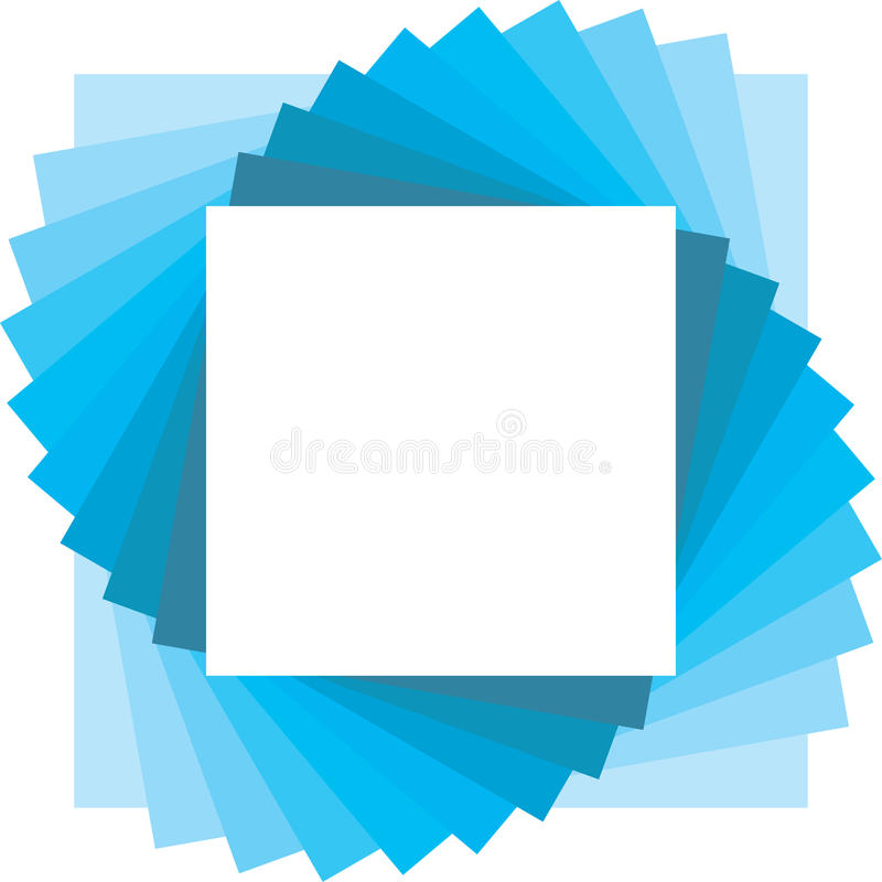 Square backdrop for photo royalty free illustration