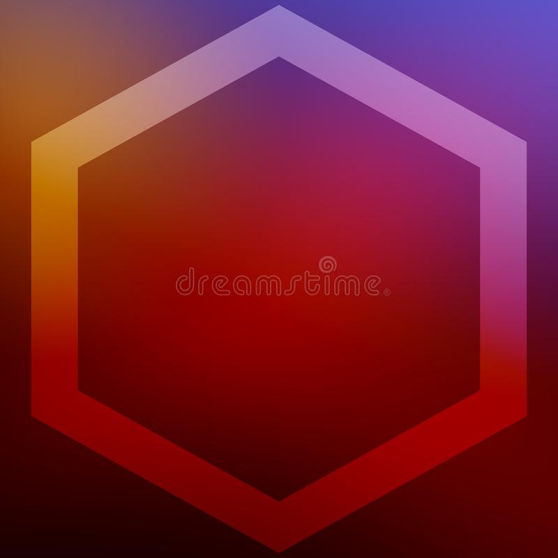 Square background with hexagon frame for christmas greeting cards and other wishes. For print and web. stock photos