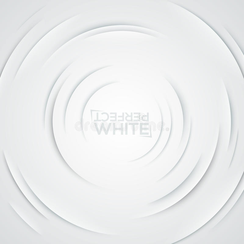 Square background with ripple effect. Circular cuts on white paper stock illustration