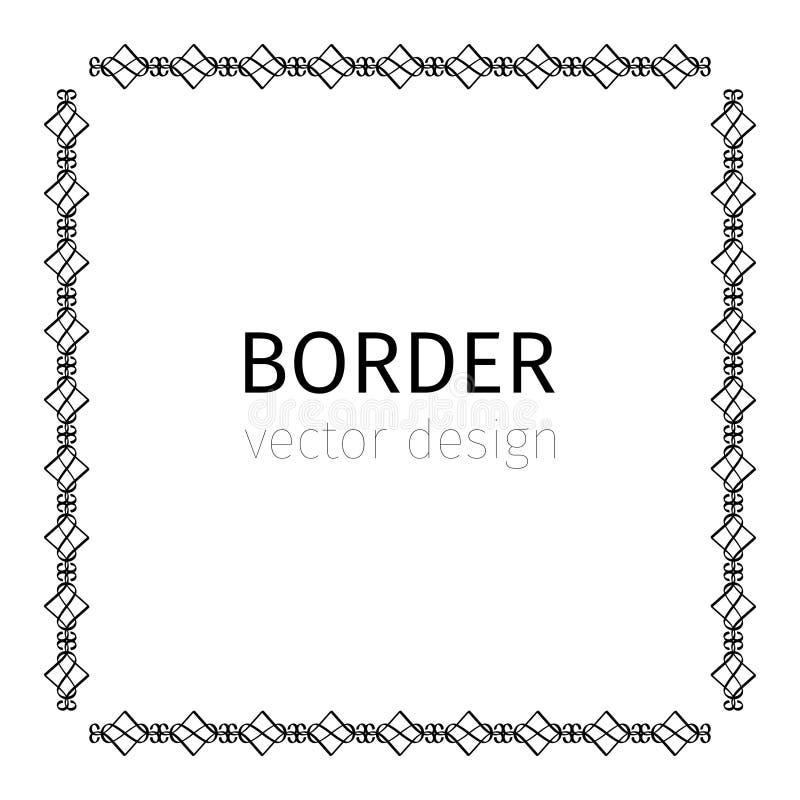 Square black scythian border royalty free illustration