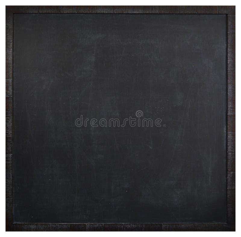 Square blank washed blackboard. In dark frame stock image