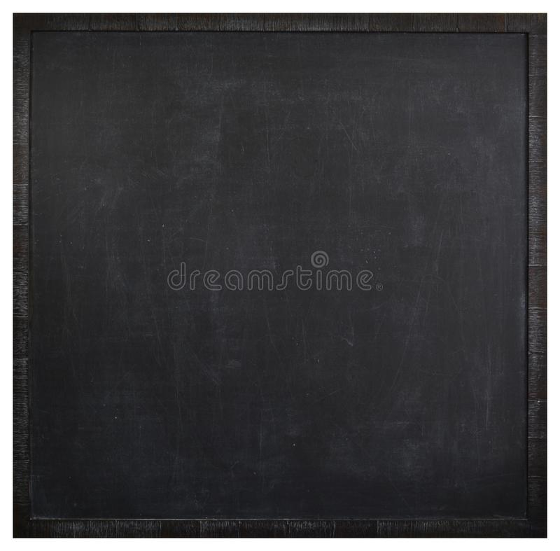 Square blank washed blackboard stock image