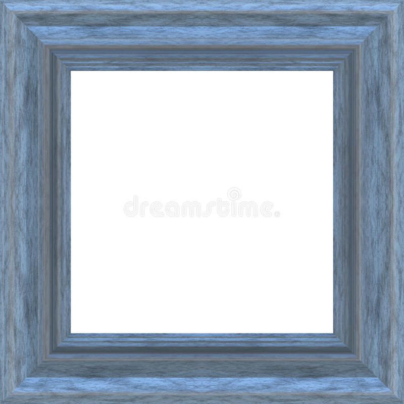 Square Blue Wood Frame stock illustration. Illustration of white ...