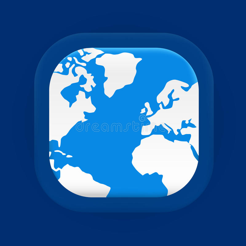 Square blue world map icon stock vector illustration of globe download square blue world map icon stock vector illustration of globe 49452900 gumiabroncs Images