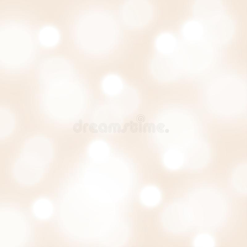 Square blurred bokeh background, 3d vector cover stock illustration