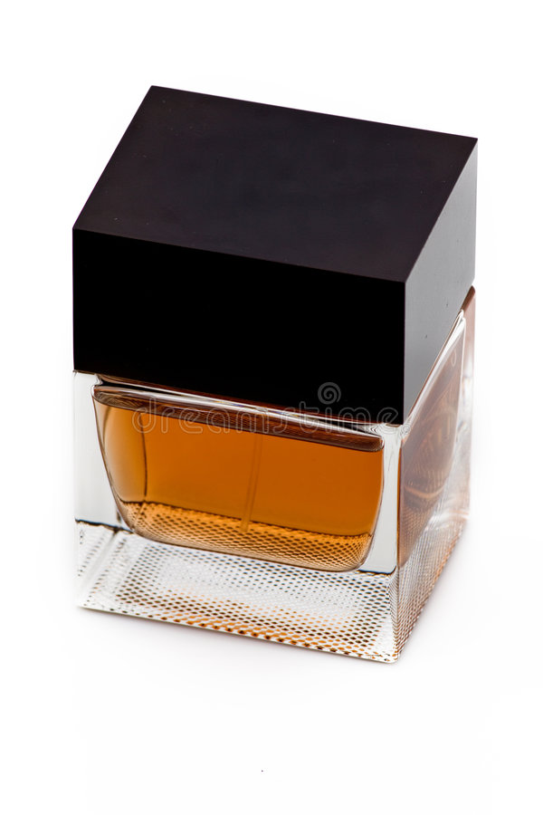 A square bottle of perfume stock images