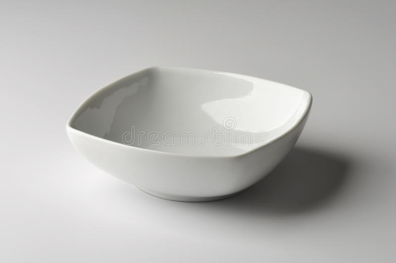 Square Bowl in white porcelain royalty free stock photography