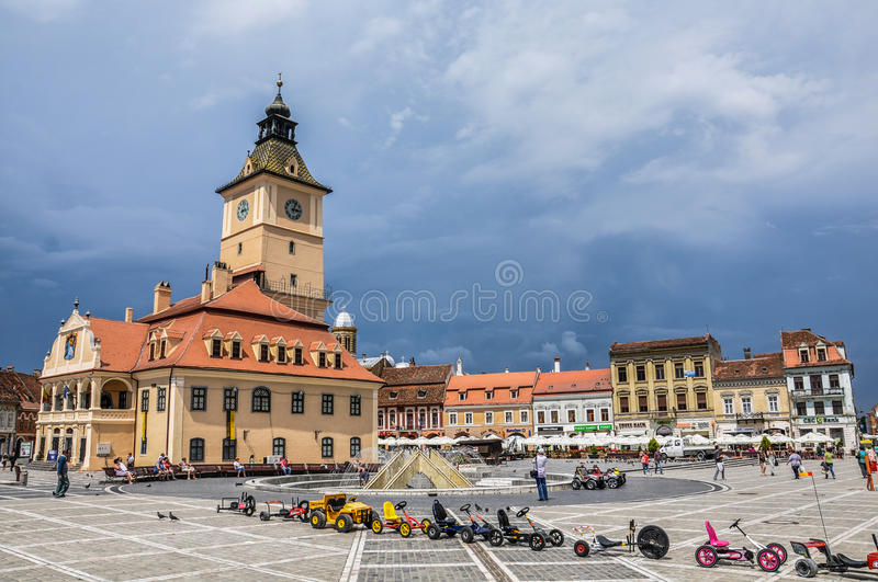 Square Brasov royalty free stock image