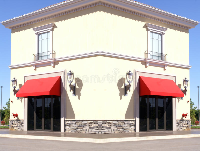 Download Square Building With Red Trim Stock Image - Image: 11168243