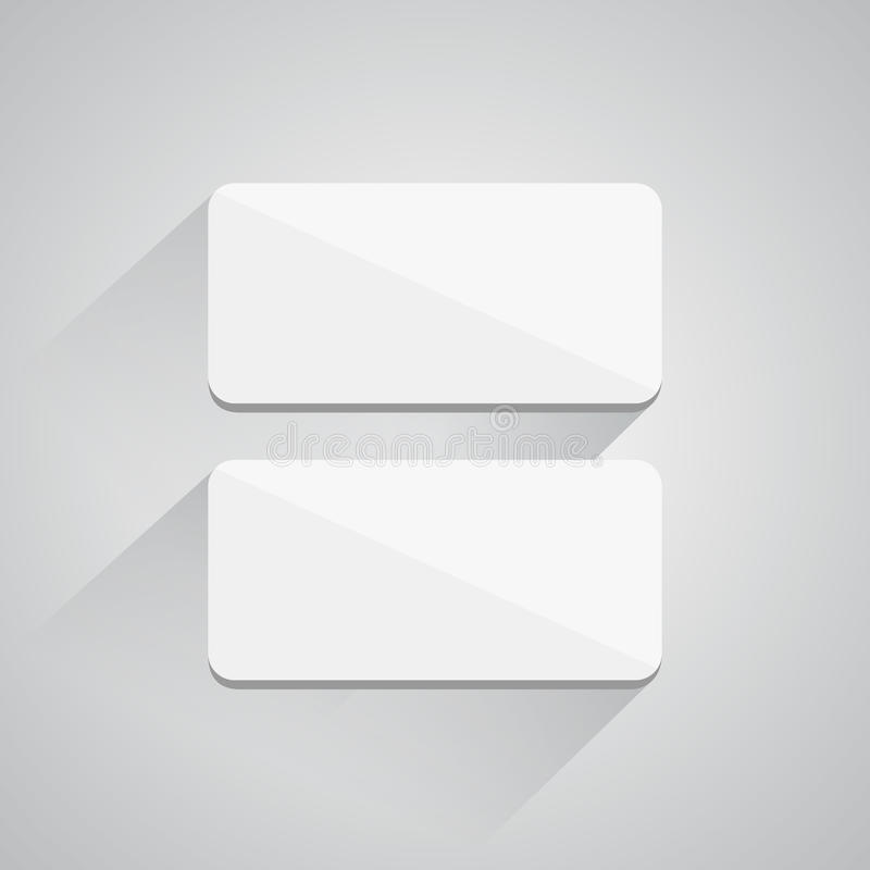 Square buttons on white background stock illustration