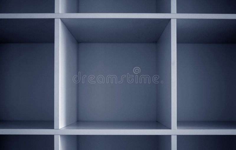 Square cells. Geometric 3d array stock image