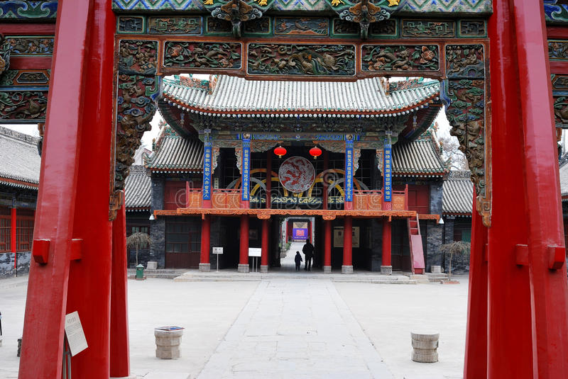 Square in China temple stock photo