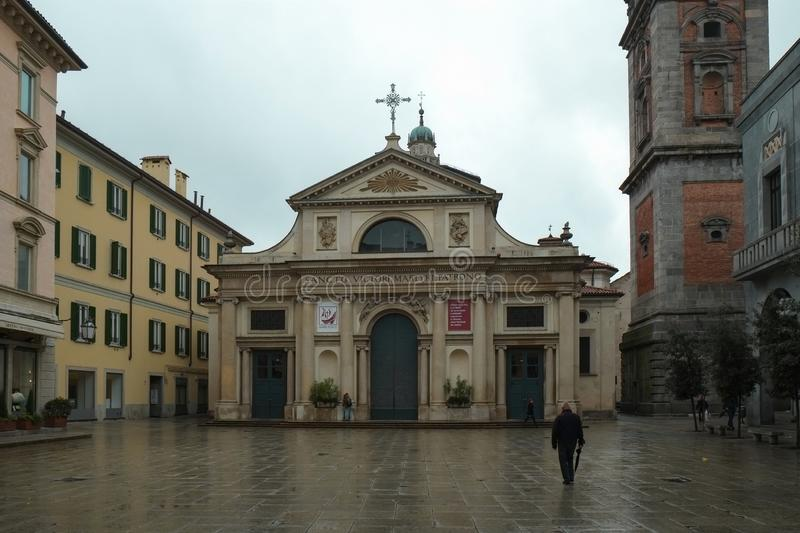 Center of Varese city, Italy stock image