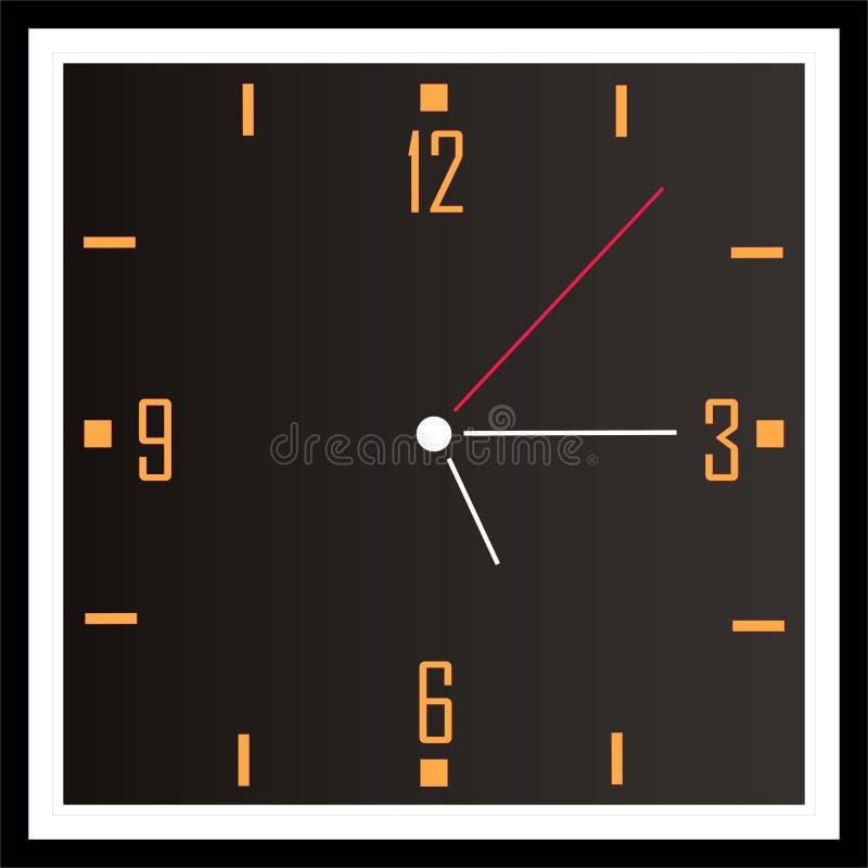 Download Square clock stock illustration. Illustration of orange - 5947751