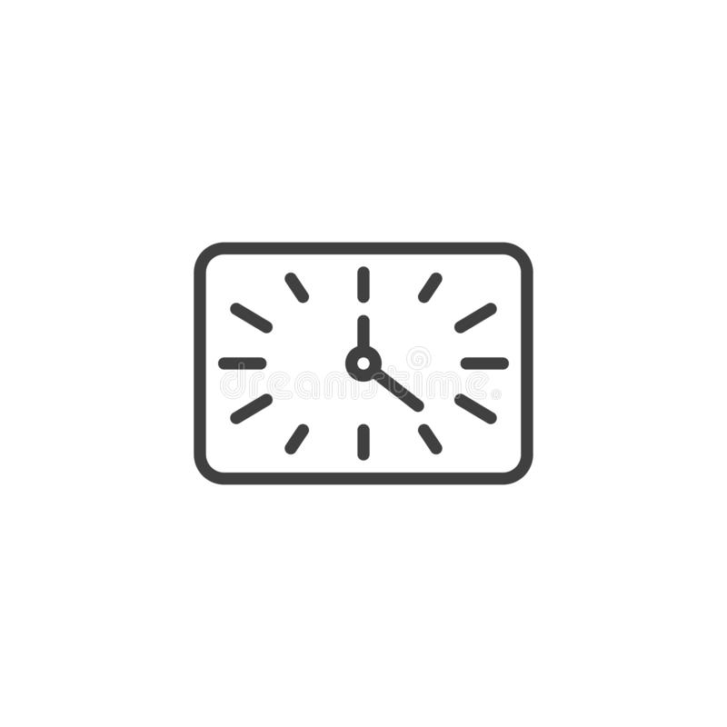 Square clock time line icon vector illustration
