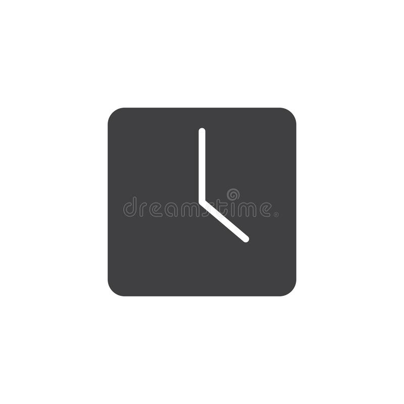 Square clock vector icon royalty free illustration