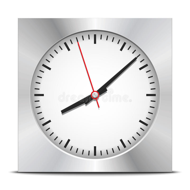 Download Square clock stock vector. Image of office, running, morning - 36404827