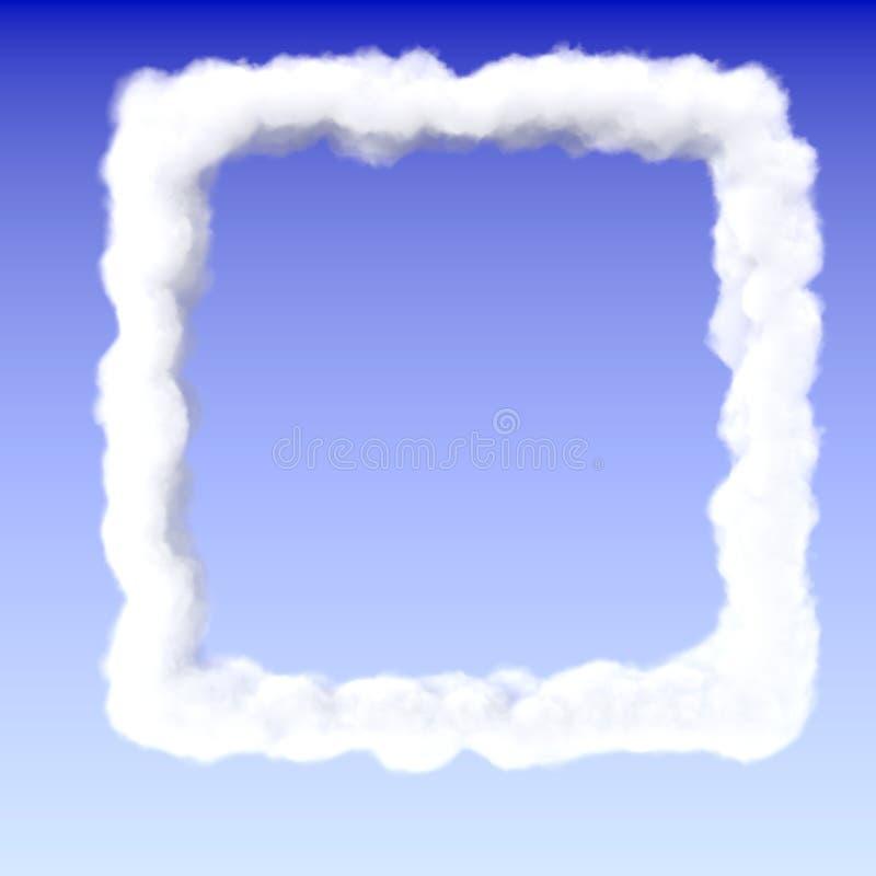Square cloud frame border stock illustration. Illustration of ...