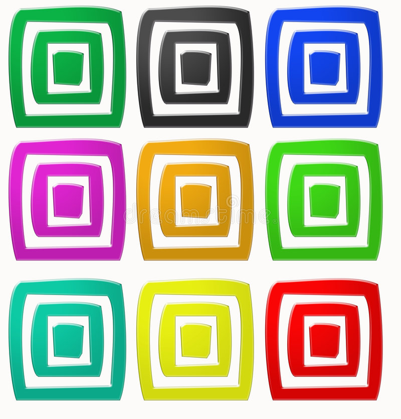 Download Square colors stock illustration. Image of booking, elaborate - 6856459