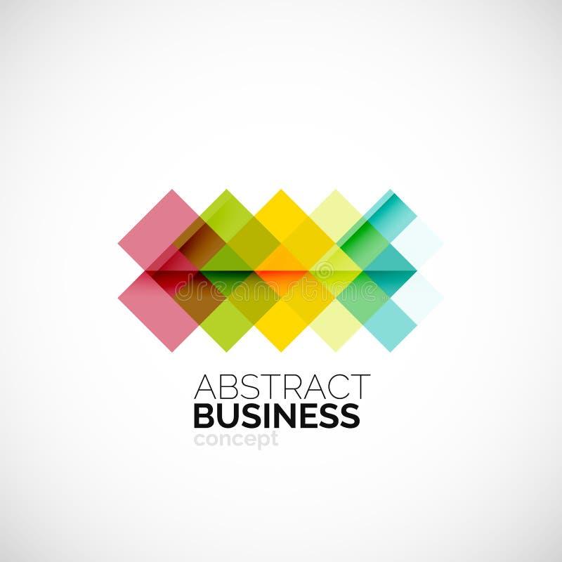 Square concept, company logo design element royalty free illustration