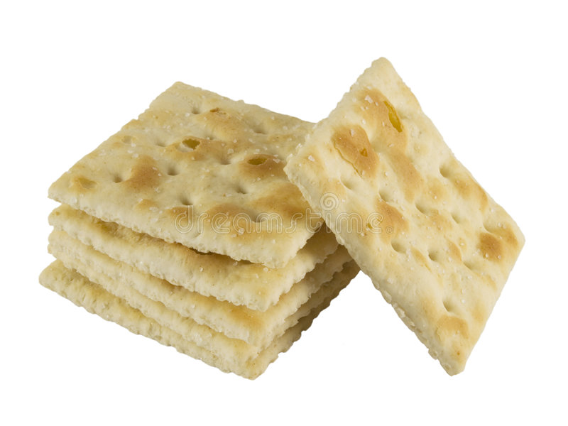 Square crackers stock photo
