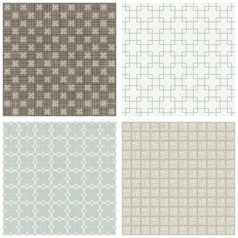 Square Cross Hatch Clover Scrapbook Backgrounds Royalty Free Stock Photography