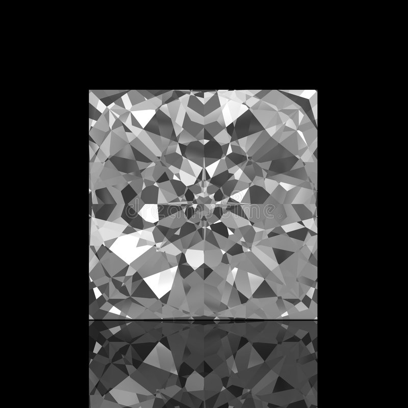 Square Cut Diamond stock illustration