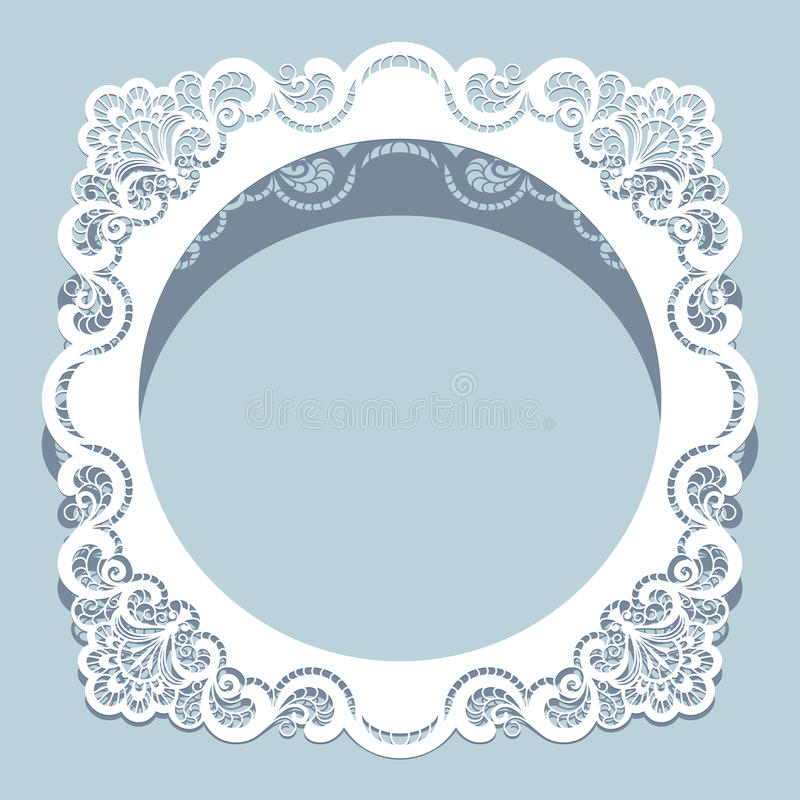 Free Square Cutout Paper Lace Frame Royalty Free Stock Image - 56848836