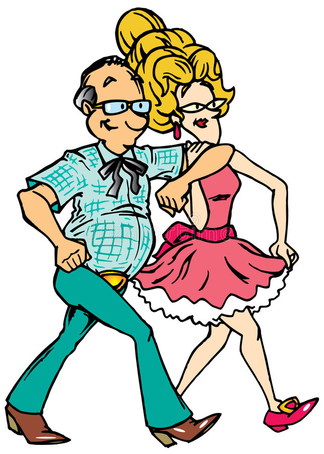 Square Dancing vector illustration