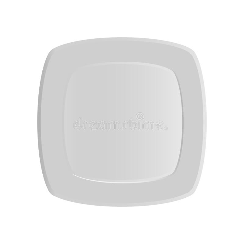 Square dinner plate pattern. Vector illustration on a white background. Square dinner plate pattern. Vector illustration on a white background stock illustration