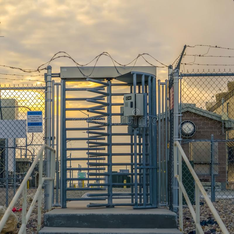 Stairs With Barbed Wire Stock Photo Image Of Light