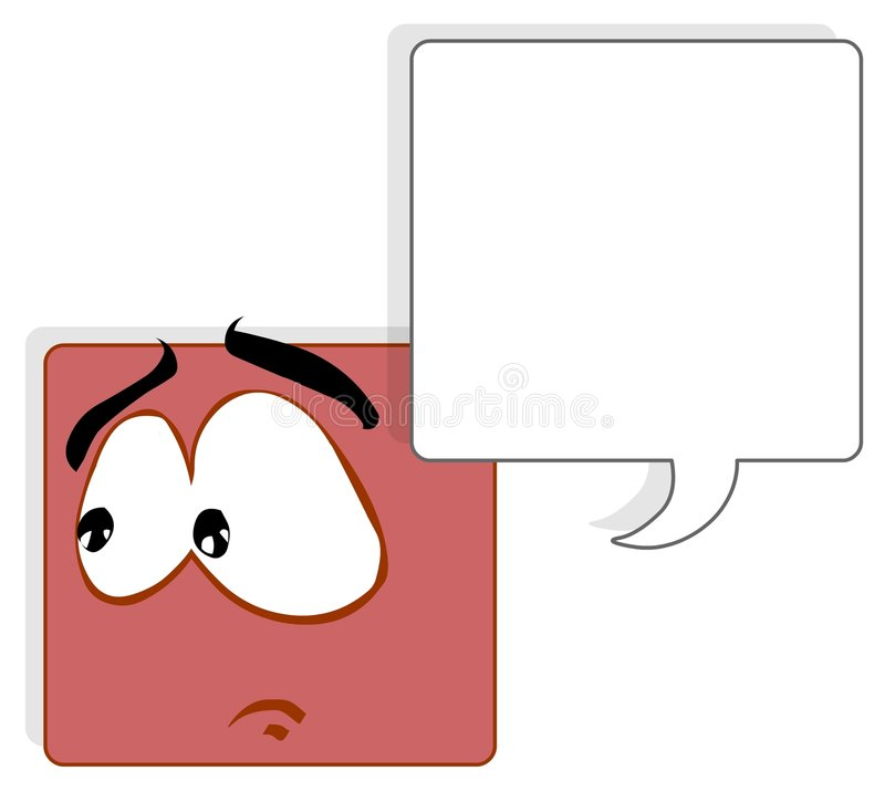 Square face vector illustration