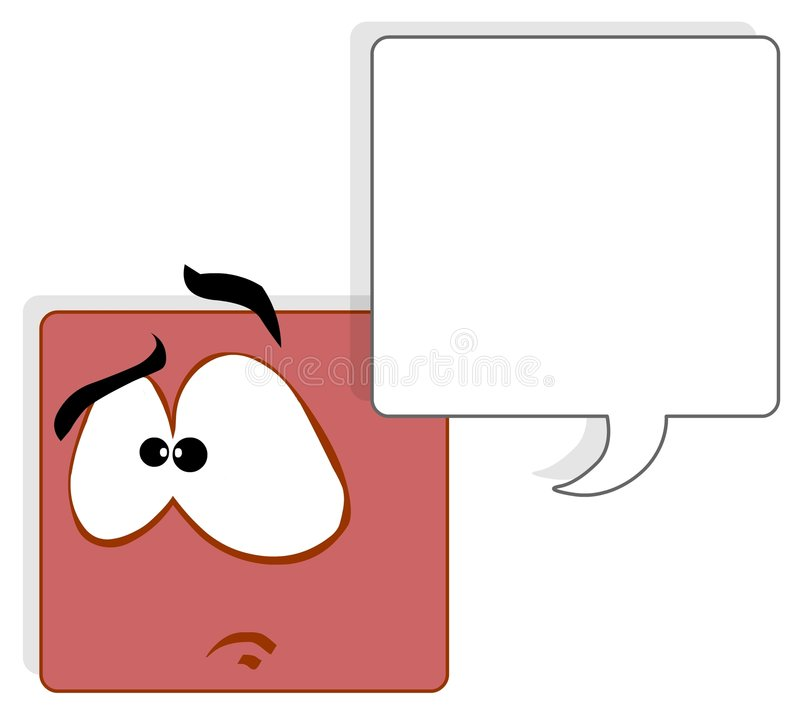 Square face stock illustration