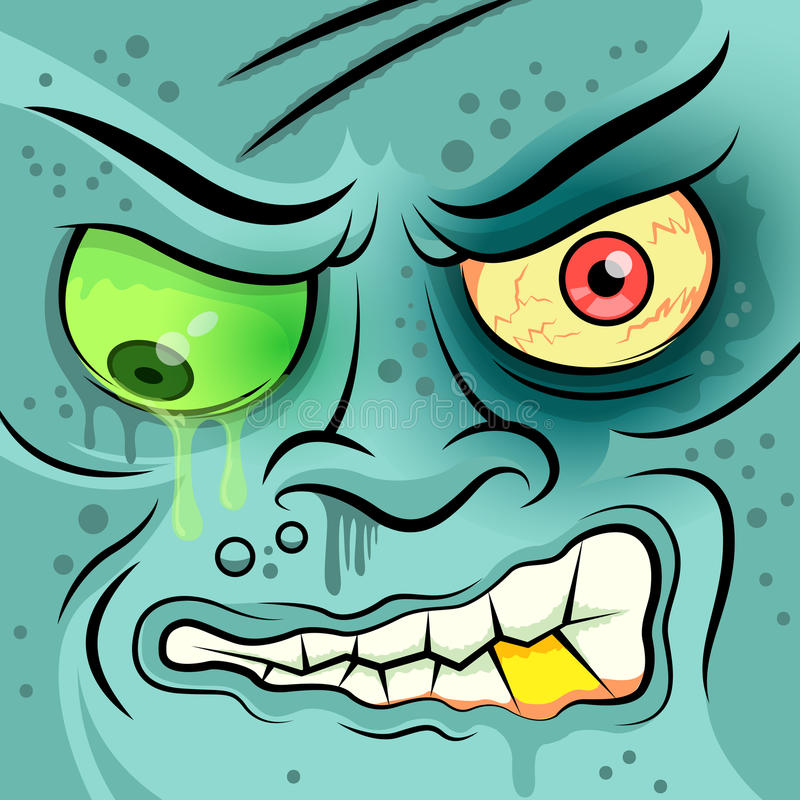 Download Square Faced Dead Zombie stock vector. Image of halloween - 37401337