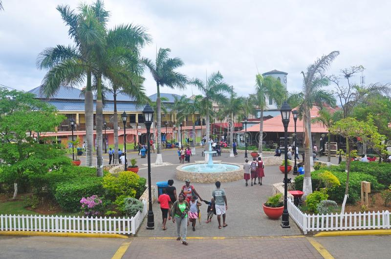 Falmouth, Jamaica. Square in Falmouth, Jamaica. Falmouth is the chief town and capital of the parish of Trelawny in Jamaica. It is situated on Jamaica`s north royalty free stock photography
