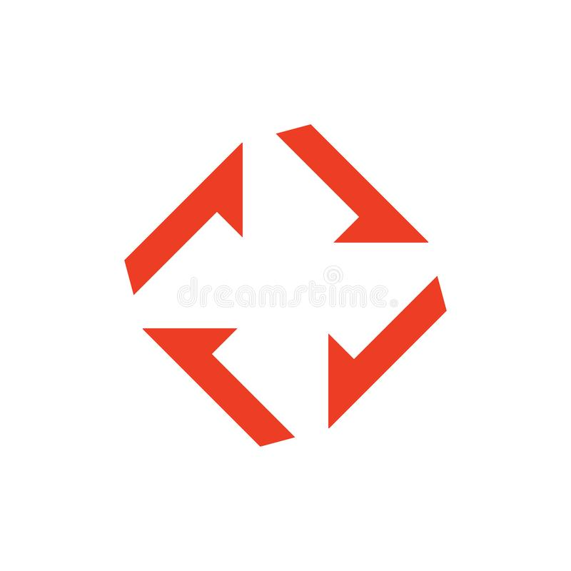 Square fan turbine simple geometric logo vector. Simple luxury unique unusual design concept vector illustration