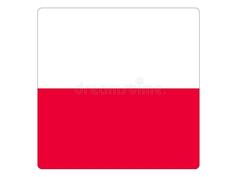 Square Flag of Poland. Vector illustration of the Square Flag of Poland royalty free illustration