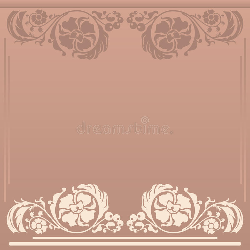 Square Floral Frame In Neutral And Beige Colors Royalty Free Stock Photo