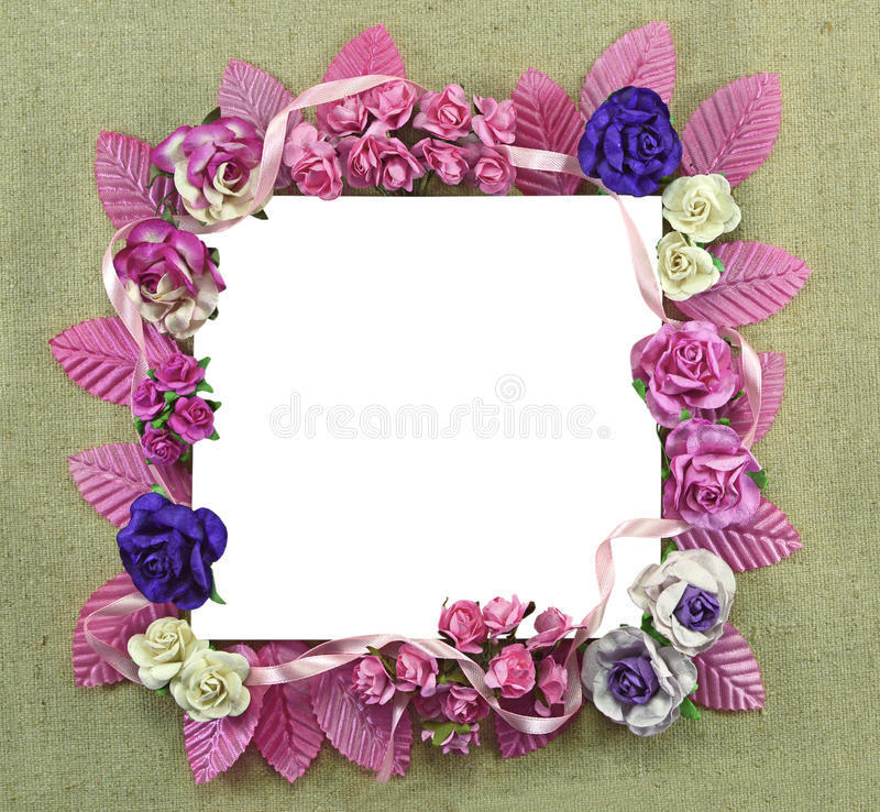 Square flower frame royalty free stock photography