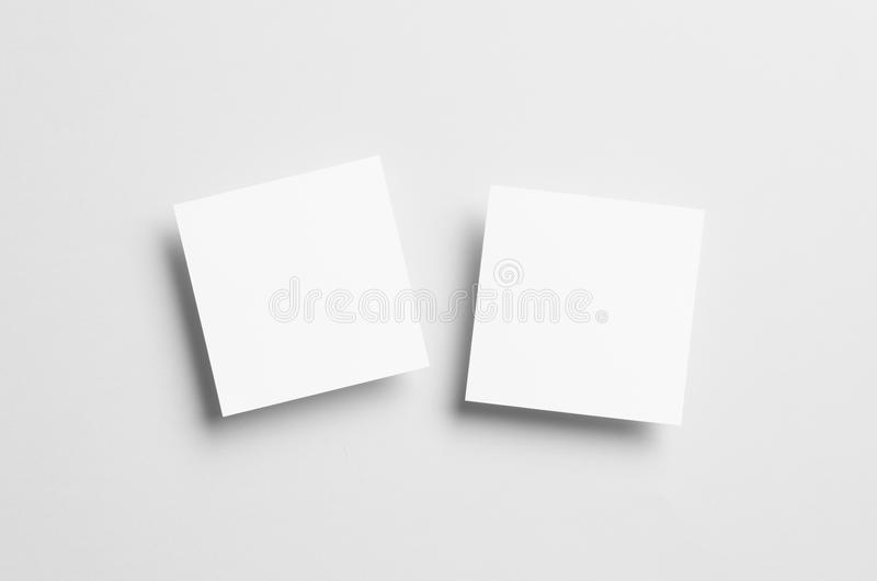 Square Flyer / Invitation Mock-Up stock images