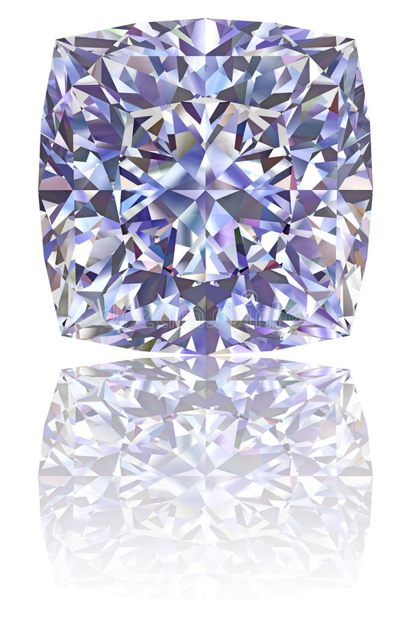 Square formade diamanten på glansig vit vektor illustrationer
