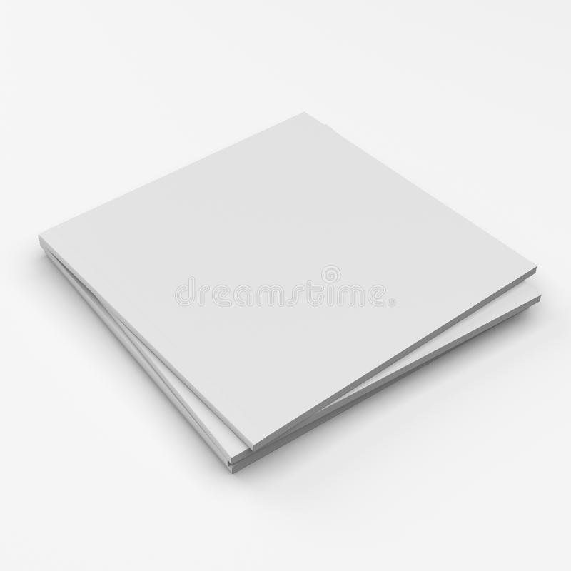 Square format blank catalogs royalty free stock image