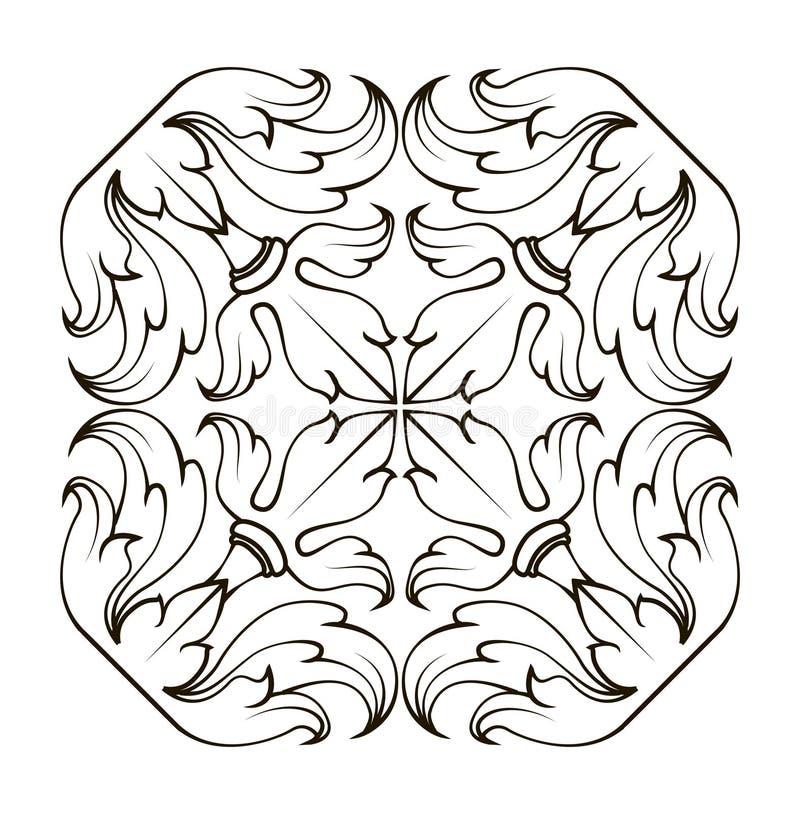 Square frame corners ornament vector illustration