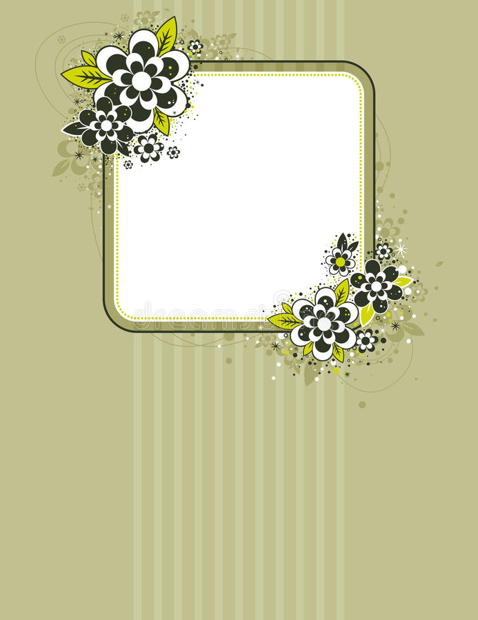 Download Square frame with flowers stock image. Image of stylization - 16070005