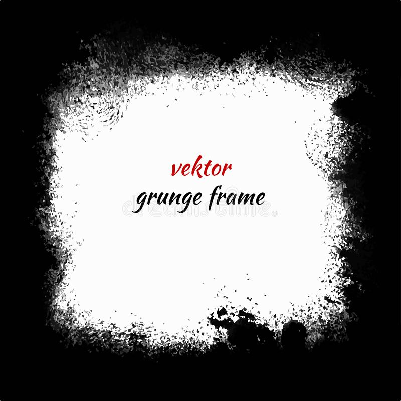 Square frame in grunge style. Grunge background. Vector illustration stock illustration