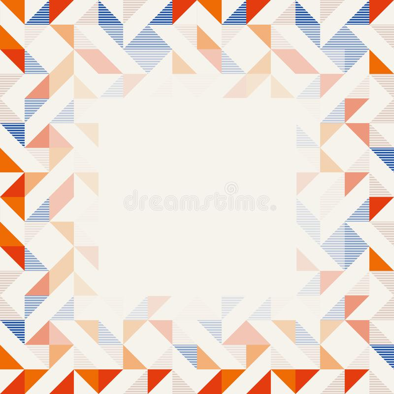 Free Square Frame In Red And Blue Colors, Abstract Geometric Background Pattern Stock Images - 147031364