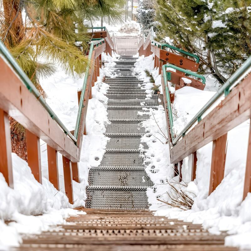 Snowy Stairs Clip Art