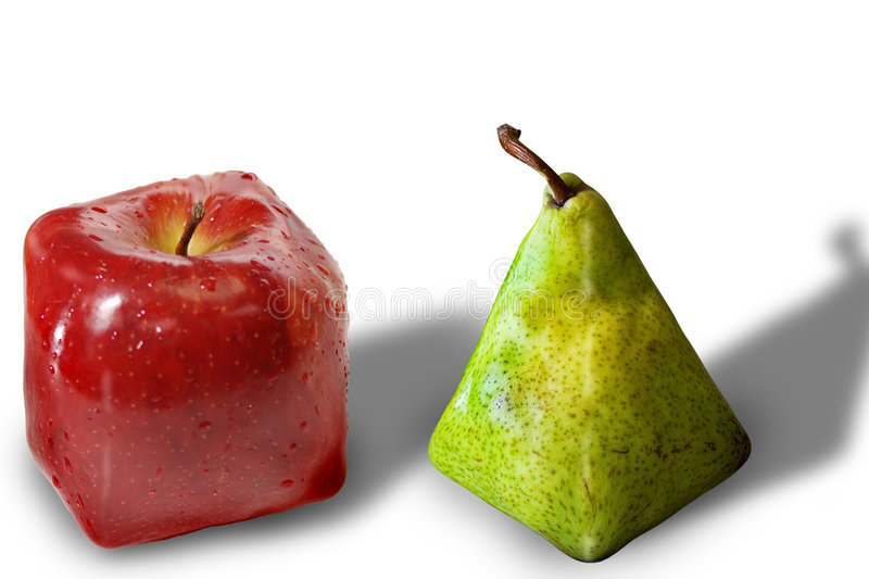 Square fruits royalty free stock photo